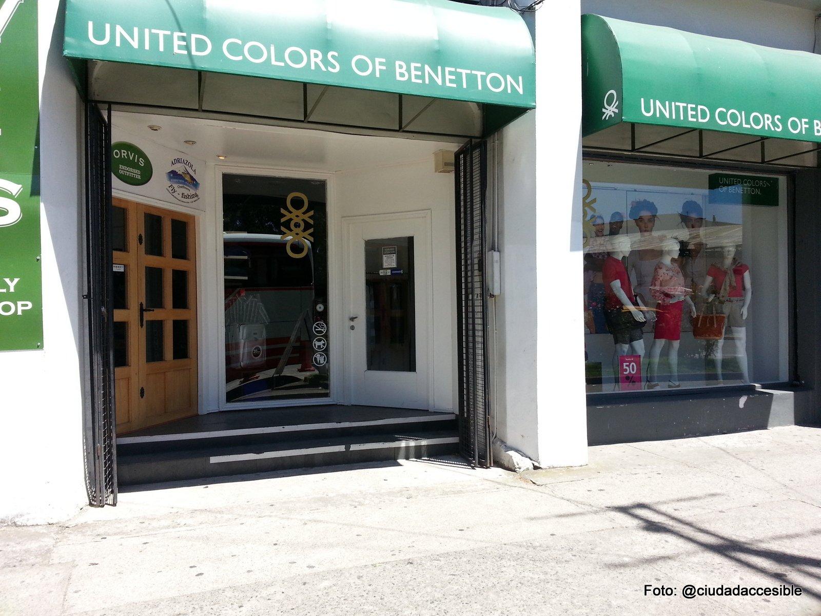 Benetton Puerto Varas local inaccesible