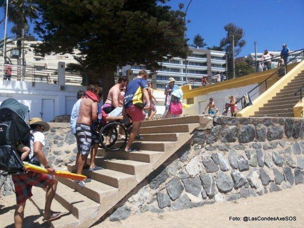Bajada a playa en silla de ruedas concon 2