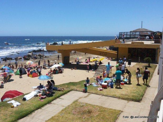 Vista playa concon