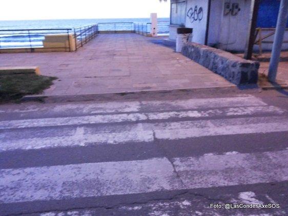 cruces peatonales inaccesible concon