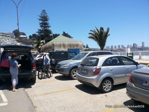 estacionamientos PcD playa Concon