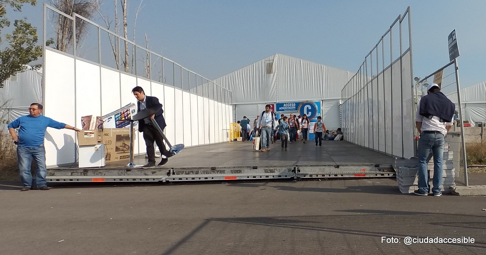 Acceso Expomin inaccesible