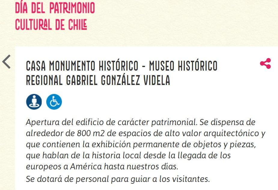 Captura de pantalla - Info web Museo Gabriel Gonzalez Videla