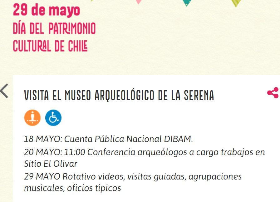 Captura de pantalla- Info web Museo arqueologico La Serena