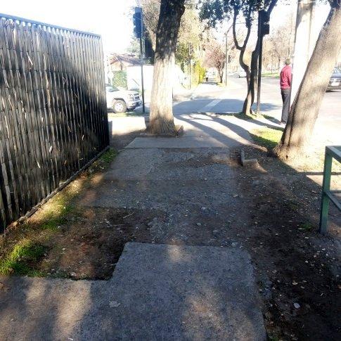 estado de la circulación al costado de calle Bilbao, ingreso obligado para los asistentes