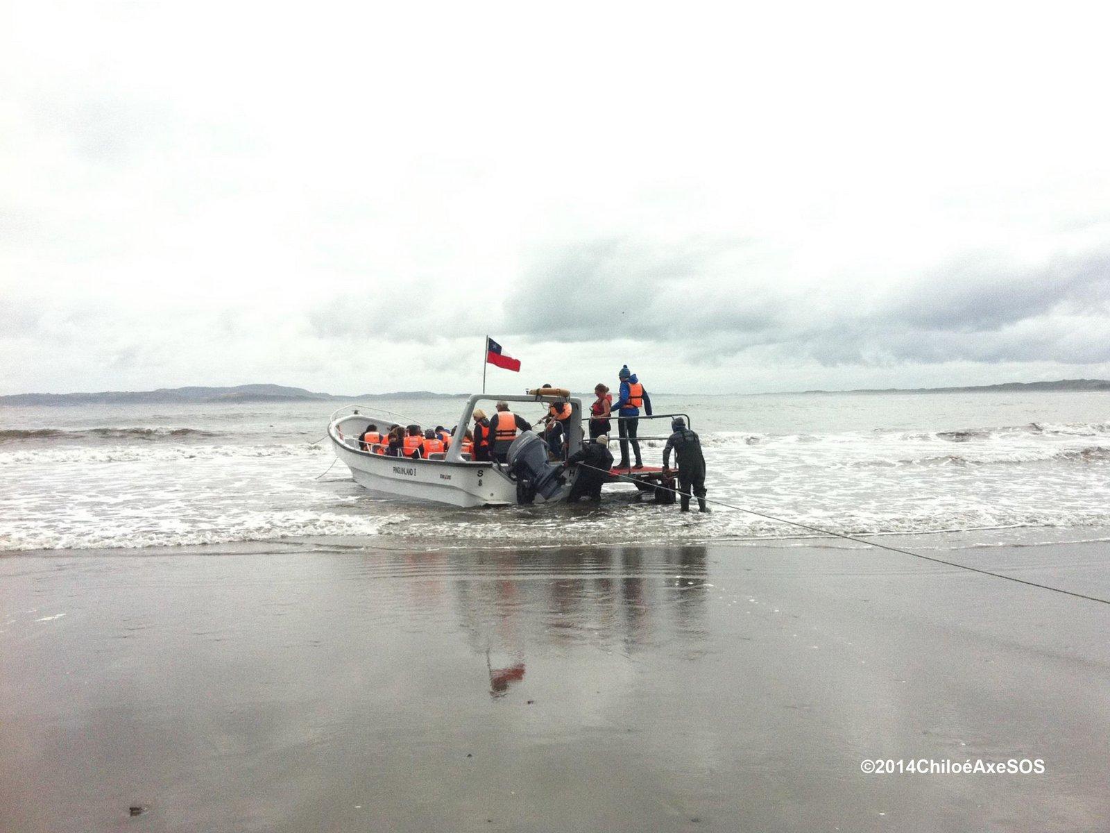 2014 embarque en Puñihuil Ancud Chiloé