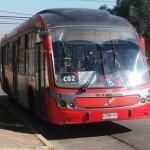Bus de transporte público en santiago