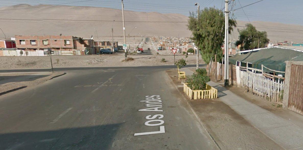Foto de la inaccesibilidad de una ruta de evacuación en arica Los Andes con Robinson Rojas