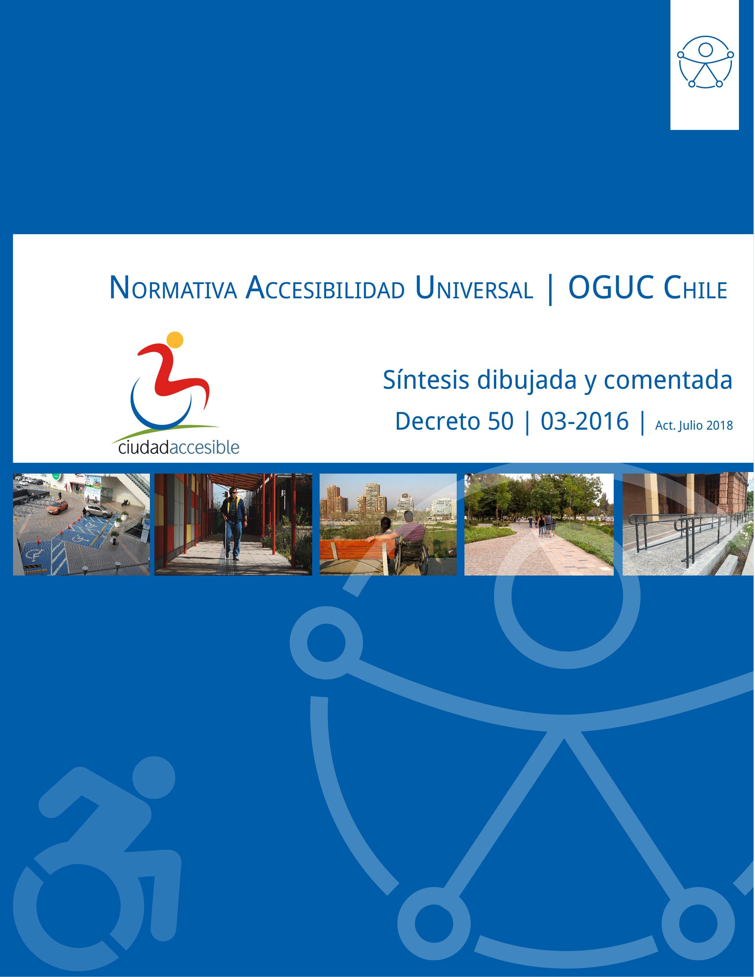 Portada Síntesis dibujada y comentada Accesibilidad OGUC 3