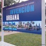 Cartel que indica la sexta conferencia internacional de ciudad reinvención urbana