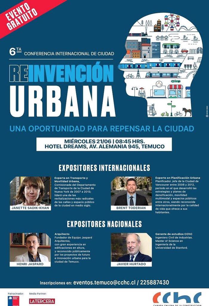Poster de sexta conferencia reinvensión urbana