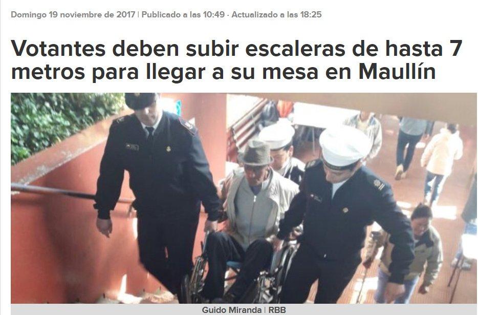 Votantes deben subir escaleras de hasta 7 metros para llegar a su mesa en Maullín - BioBioChile