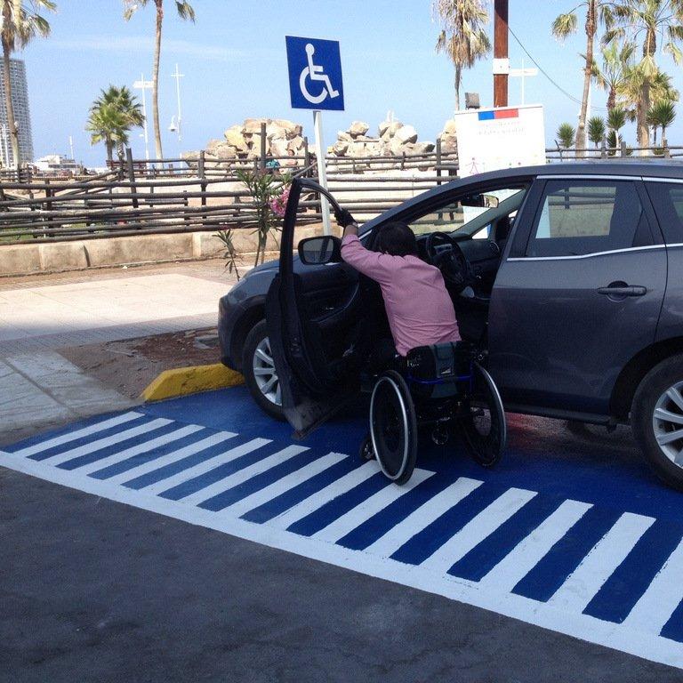 Estacionamiento para personas con discapacidad en la vía pública