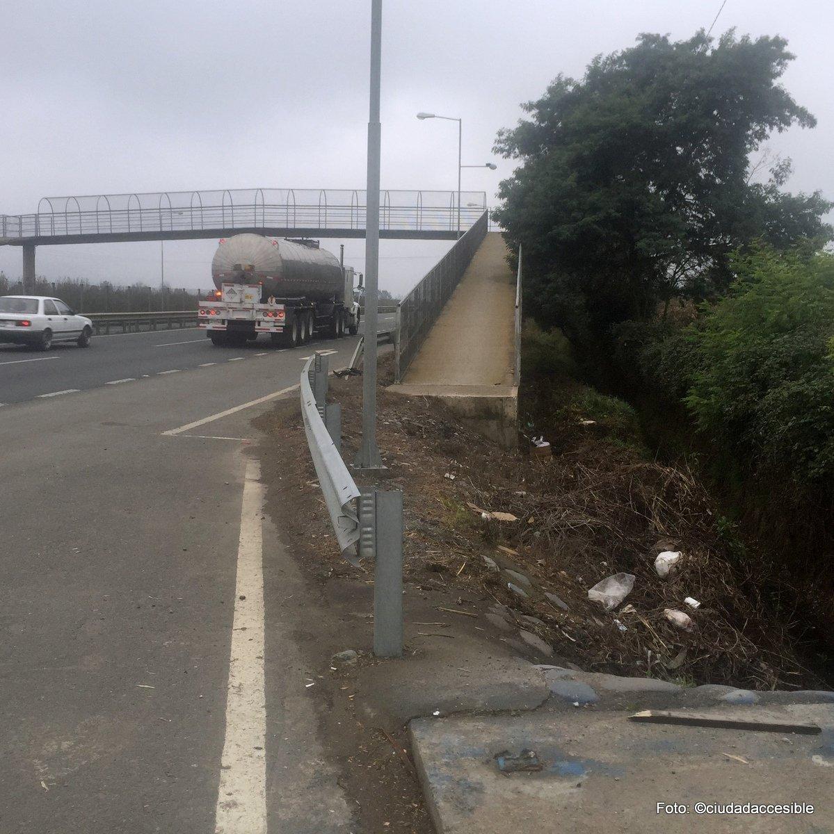 pasarela peatonal en ruta 5 sin conexión a paradero