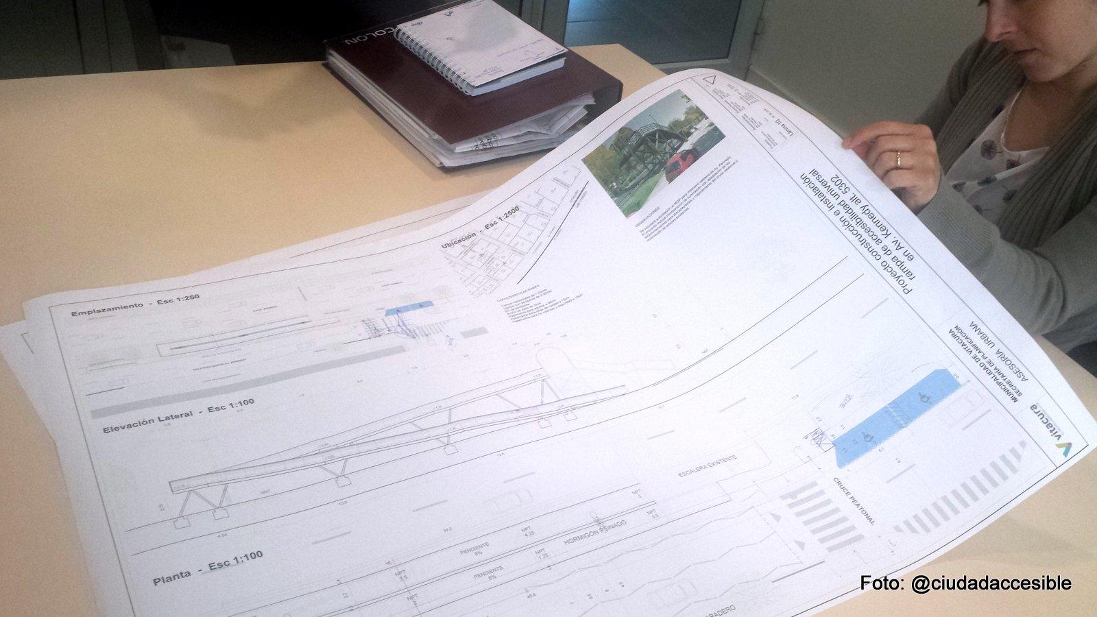 conociendo el proyecto rampa de pasarela peatonal
