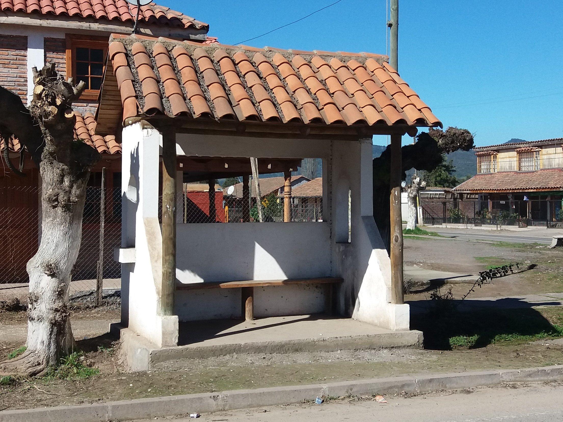 Paradero inaccesible en Auquinco