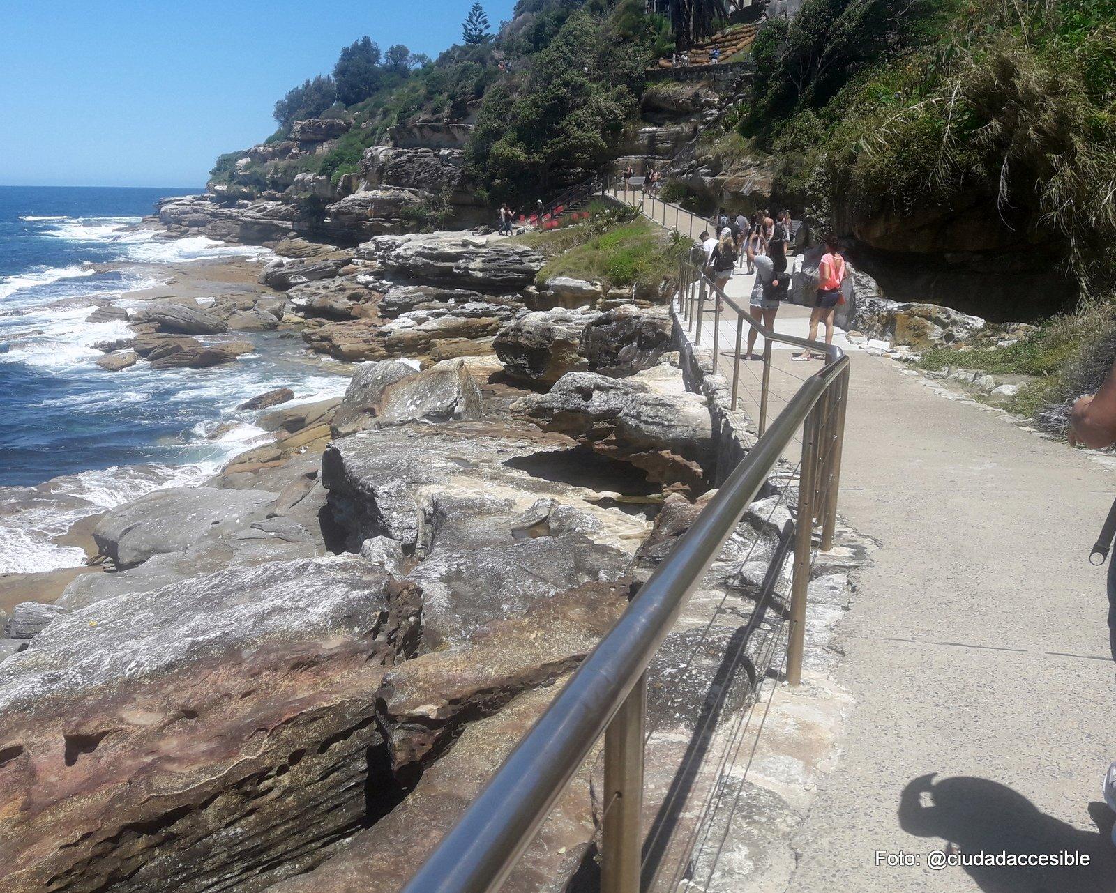 Sendero peatonal Playa Bondi Guia Sydney