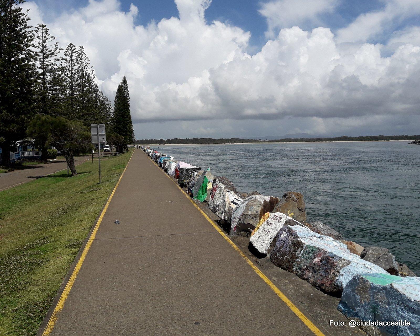 ruta peatonal en Parque Port Macquiarie