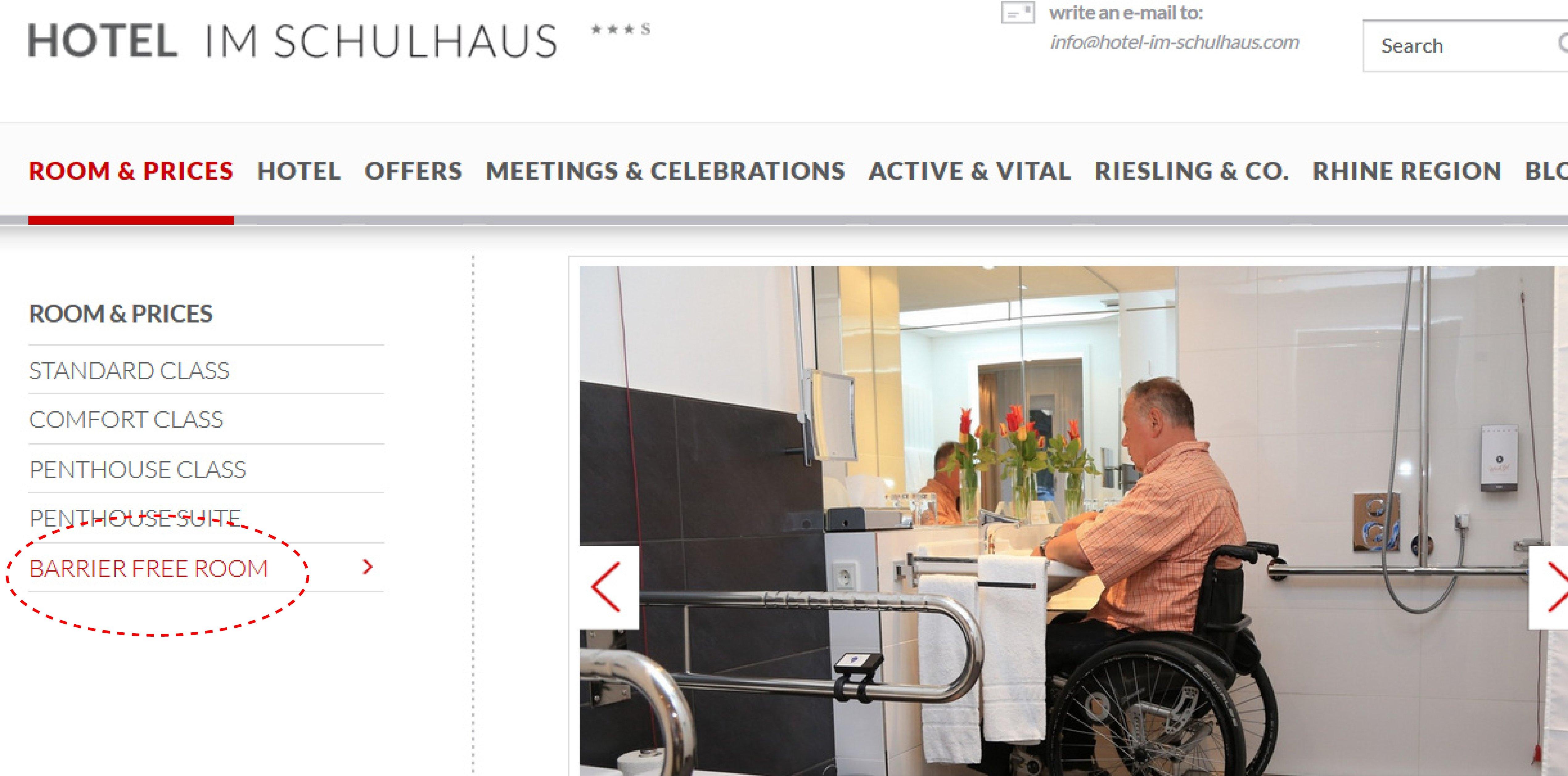 accesibilidad en hotel alemania