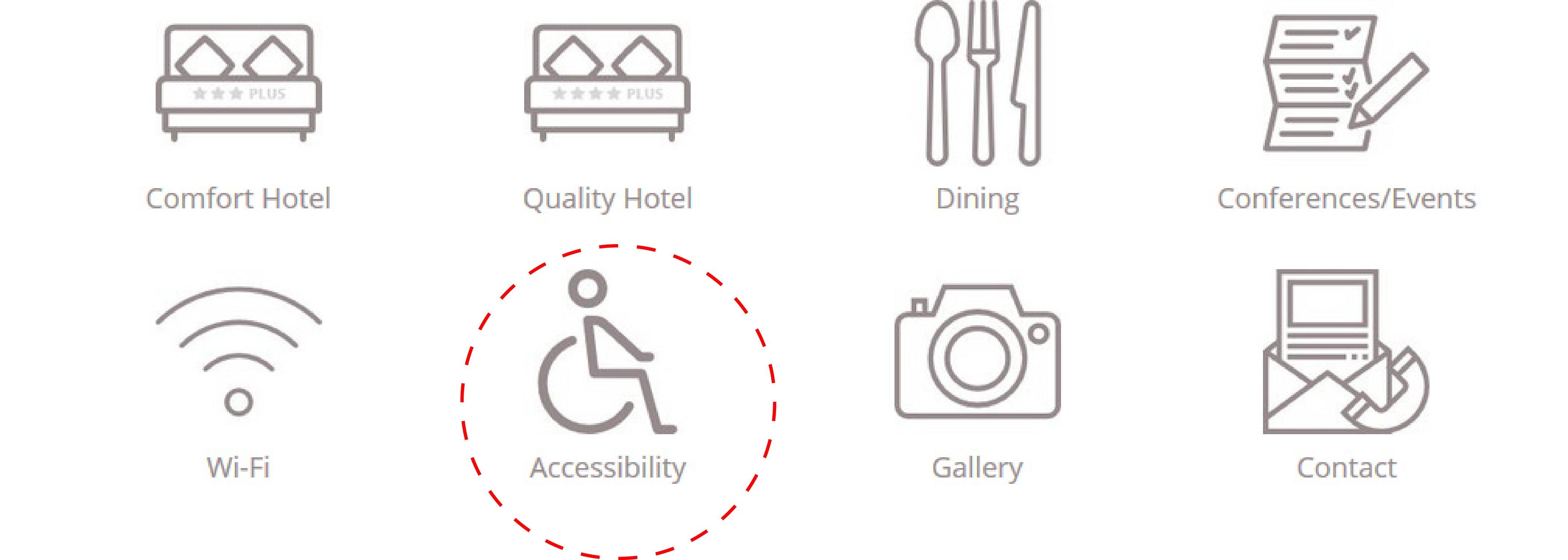 informacion de accesibilidad en página web de hotel