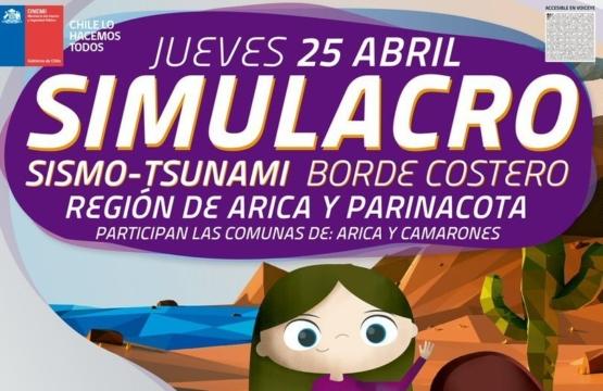 Simulacro Sismo Tsunami | Arica