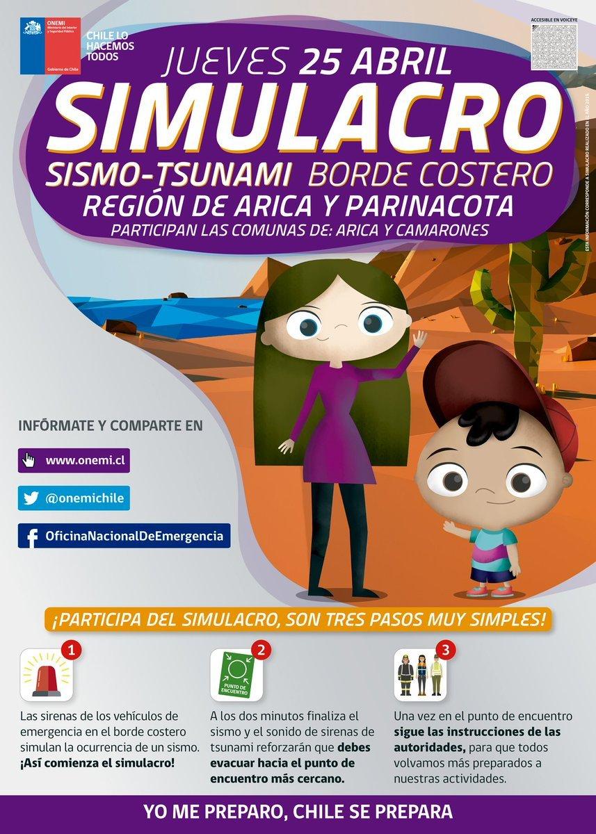 Simulacro Sismo Tsunami para PcD | Arica