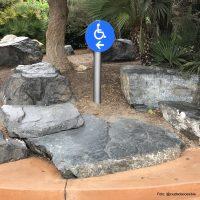 Símbolo de accesibilidad para indicar ruta alternativa y accesible