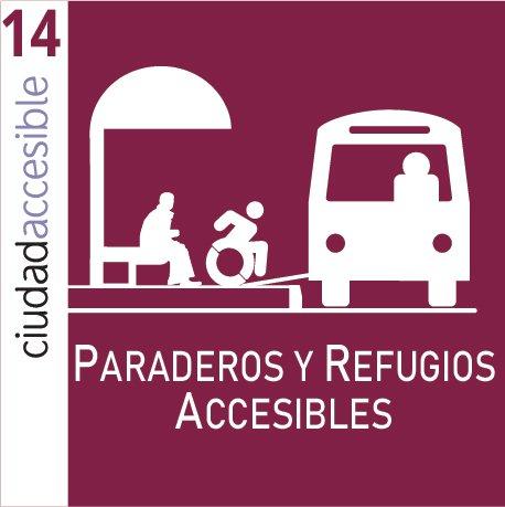 Ficha 14 | Paraderos y Refugios Peatonales Accesibles
