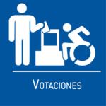 ícono votaciones accesibles